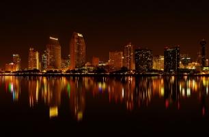 San Diego Skyline By Night