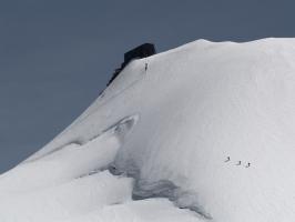 To Reffugio Margerita, Monte Rosa masiff - 4555 m.