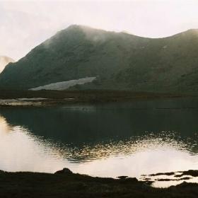 Пирин -залез на Тевното езеро