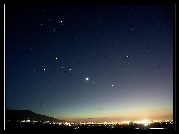 Венера,Марс и Сатурн над София
