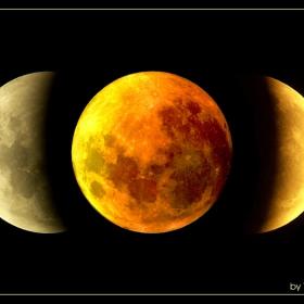 3 фази от пълното лунно затъмнение