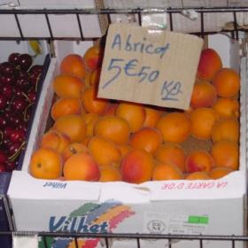 кайсии за 5.50 euro/kg?