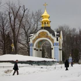 В снега