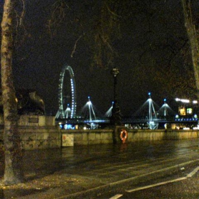 The night view of London