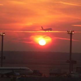 Frankfurt Airport runway - 05:45AM