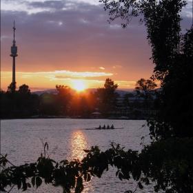 Закат над Дунаем. Вена