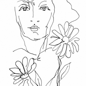 Портрет с цвете