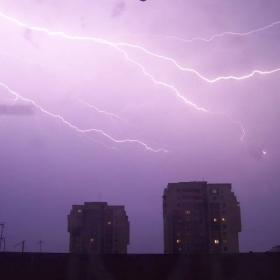 Буря над София