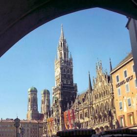 Центъра на Мюнхен-Мариен плац