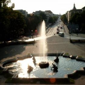 Залез над фонтана
