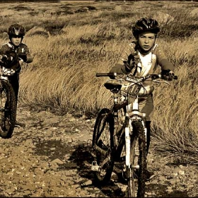 young pro-bikers