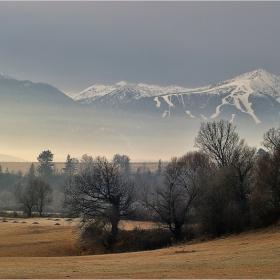 Дърветата са сякаш непознати... , далечните мъгливи планини са сякаш чужди в утринната тишина....