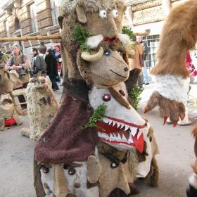 Кукерски маски -  от фестивала в Перник