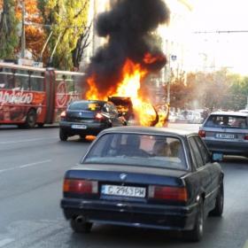 Пожар в трафика
