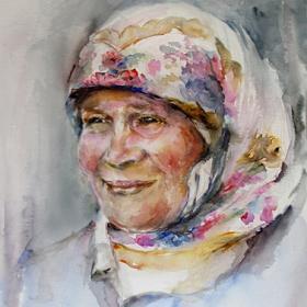 Портрет на жена/акварел