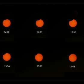 Частично слънчево затъмнение  01.08.2008