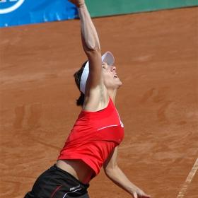 Сервира Llagostera Vives - финал на 100 хил. доларов тенис турнир в София
