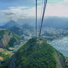 Рио де Жанейро-на слизане от Захарната глава -395 м-Sugar Loaf