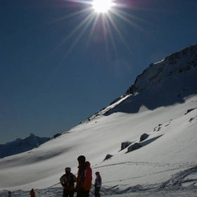 Skiing in the Alps, Soelden