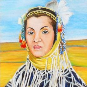 Портрет на народната певица Галина Дурмушлийска