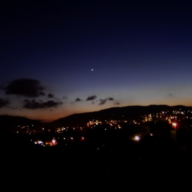 Венера и Меркурий над Люлин планина