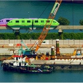 Сингапур  - влакчето за о-в Сентоса