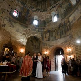 """Църковен брак в Ротондата """"Свети Георги"""""""