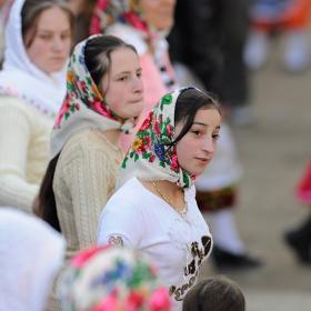 Помашки девойки на хоро. С.Рибново, Южна България