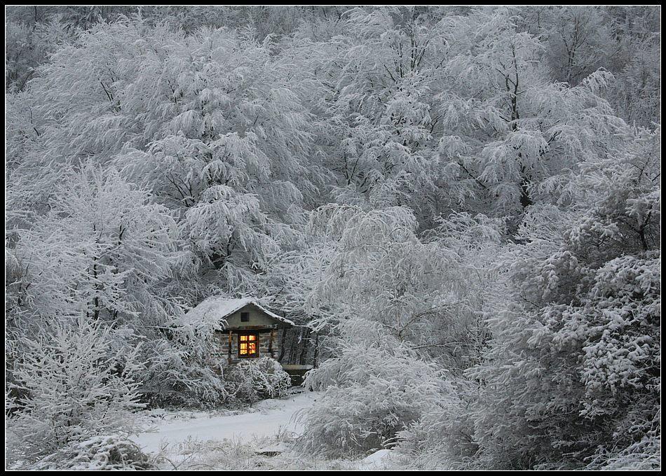 Къщичка в снега се гуши...