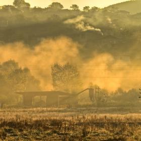 Мъгливо утро край с.Поибрене