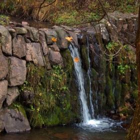 Един от водопадите по рекичката над село Локорско