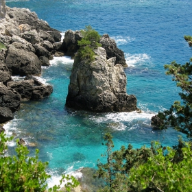 La Grotta близо до Paleokastritsa на остров Корфу