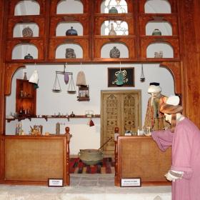 Средновековна аптека в музея ня здравето в Одрин.