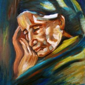 Майката на художника Владимир Димитров-Майстора.