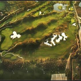 Голф игрището край Правец-2 от хексакоптер