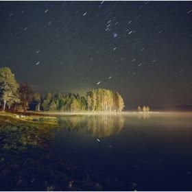 Звездна и студена нощ край яз. Широка поляна