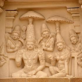 Kanchipuram - Детайл от храма Kailasana 2