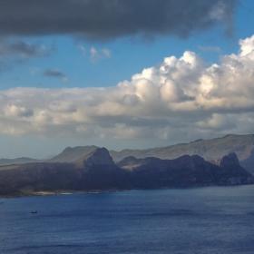 Поглед от площадката на фара на нос Добра надежда на север, към полуострова.