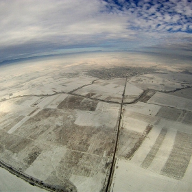 Софийското зимно поле Хексакоптер ,камера GOPRO HD,500м височина ,около с.Лесново