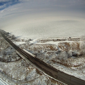 Хексакоптер ,камера GOPRO HD,40м височина ,около с.Лесново