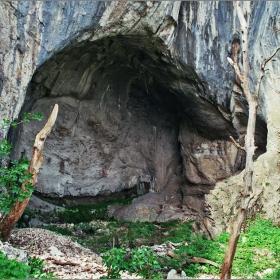 Нишата със скалния манастир край Бистрец (общ вид)