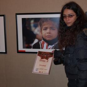 """Kалина Шивачева-Стойчева се нареди на Трето място на традиционната фотоизложба – конкурс """"Кукерландия 2011"""" в Ямбол"""