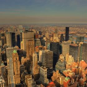 Изглед от 86-ия етаж към града с главно