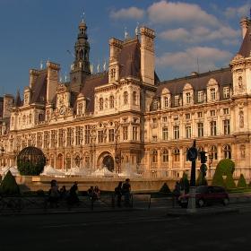 Париж - Hotel de Ville привечер