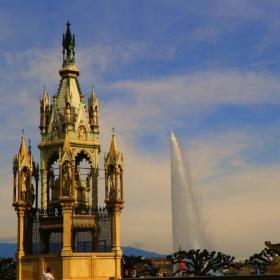 Гледки от Женева- висящият гроб и Же д'О