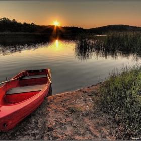 Veleka`s river sunset ...