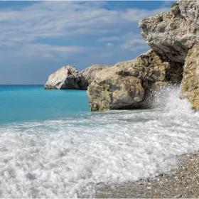 о.Лефкада, плажът Катизма