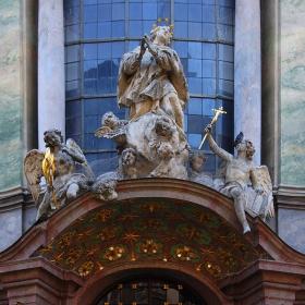 Asamkirche- Част от фасадата