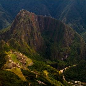 От връх  Machu Picchu 3051м. поглед към  Изгубеният град на инките