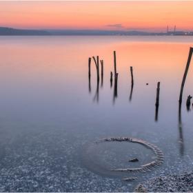 на брега на езерото ```